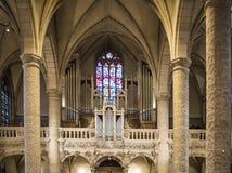 Notre-Dame Chatnedral όργανο Στοκ εικόνες με δικαίωμα ελεύθερης χρήσης