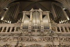 Notre-Dame Chatnedral όργανο Στοκ Εικόνες