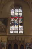Notre Dame Chatnedral 五颜六色的视窗 免版税图库摄影