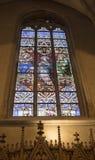 Notre Dame Chatnedral 五颜六色的视窗 图库摄影