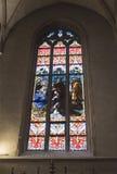Notre Dame Chatnedral 五颜六色的视窗 库存照片