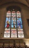 Notre Dame Chatnedral 五颜六色的视窗 免版税库存图片