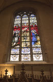 Notre Dame Chatnedral 五颜六色的视窗 库存图片