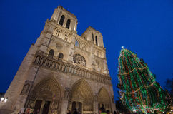 Notre-Dame. Christmas day in Paris's Notre-Dame Stock Photography