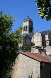 Notre-Dame church, Bellac, Haute-Vienne department of Limousin Stock Images
