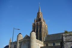 Notre Dame church in Calais Stock Image
