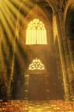 Notre-Dame Church in Dinant. The Interior of the Notre-Dame church in Dinant, Belgium. Collegiate Church of Notre-Dame art and structure inside the church Royalty Free Stock Images