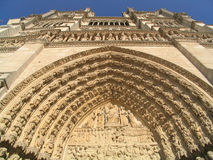 Notre Dame Church looking up Royalty Free Stock Images