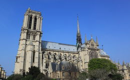 Notre Dame Church at Paris Stock Photos