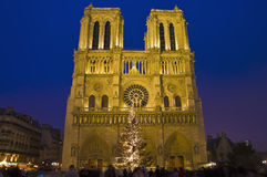 Notre Dame church at Paris, France Royalty Free Stock Photography