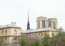 Notre Dame. Church Notre Dame in Paris (France Royalty Free Stock Photo