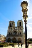 Notre dame church in Paris France Stock Image