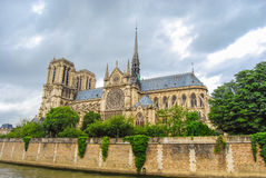 Notre-dame church, view from seine Royalty Free Stock Photo