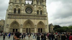 Notre Dame con la l?mpara almacen de video