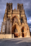 Notre Dame de兰斯,法国 库存图片