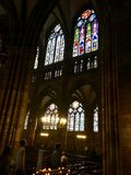 Notre Dame de史特拉斯堡 免版税库存照片
