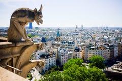 Notre Dame de巴黎面貌古怪的人  免版税库存照片