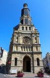 Notre Dame De Bon Secours Church i Trouville-sur-MER, Frankrike royaltyfria bilder