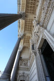 Notre Dame de FourviA rere,细节大教堂  利昂 免版税库存照片