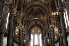 Notre Dame de Fourviere,利昂大教堂  免版税图库摄影