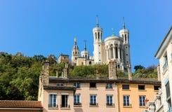 Notre Dame de fourviere,利昂,法国 库存图片