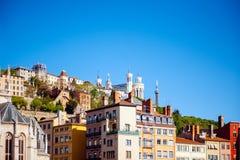 Notre-Dame de Fourviere à Lyon Photographie stock