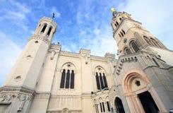 Notre-Dame de Fourviere in Lyon Stock Photography