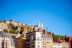 Notre-Dame de Fourviere in Lyon Stock Photography
