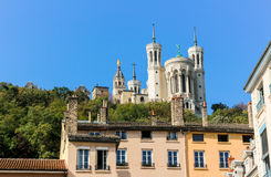 Notre dame de fourviere, Lyon, Frankrijk Stock Afbeelding