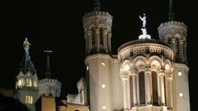 Notre-Dame de Fourviere panning stock footage