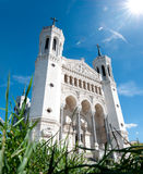 Notre Dame de Fourviere on a sunny day. Royalty Free Stock Images