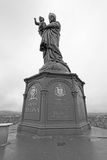 Notre Dame de France statue in Le Puy en Velay, France Royalty Free Stock Photography