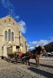 Notre-Dame de l'Assomption church, Grand-Bornand, France Royalty Free Stock Photography