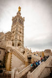 Notre Dame de la加尔德角大教堂,马赛 免版税库存图片