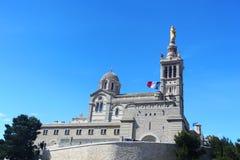 Notre Dame de la加尔德角-马赛 库存图片