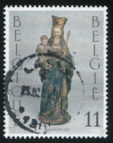 Notre Dame de la Chapelle Brussels. RUSSIA KALININGRAD, 20 OCTOBER 2015: stamp printed by Belgium, shows Notre Dame de la Chapelle Brussels, circa 1993 Stock Photography