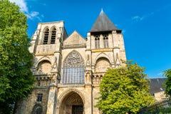 Notre-Dame de la Couture a Le Mans, Francia fotografie stock