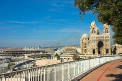 Notre-Dame de la Garde basilica in Marseille. France Royalty Free Stock Image