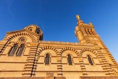 Notre-Dame de la Garde Basilica in Marseille. Marseille, Provence-Alpes-Cote d`Azur, France Royalty Free Stock Photos