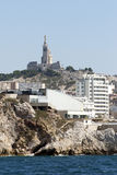 Notre Dame de la Garde cathedral, Marseille Royalty Free Stock Photos