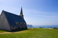 Notre Dame de la Garde chapel, Etretat Stock Images