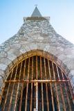 Notre Dame de la Garde chapel, Etretat village royalty free stock photography