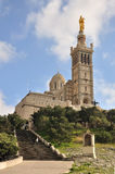 Notre Dame de la Garde, Marseille. Located in French second largest city, Marseille Royalty Free Stock Photos