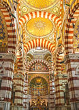 Notre Dame de la garde in Marseille Stock Images
