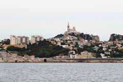 Notre Dame de la Garde in Marseille, France Royalty Free Stock Photo
