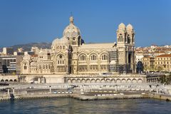 Notre Dame de la Garde, Marseille, Provence, France on the Mediterranean Sea Royalty Free Stock Image