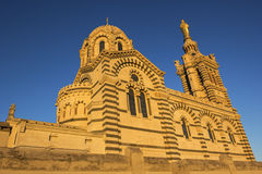 Notre-Dame de la Garde in Marseilles in France. View on Notre-Dame de la Garde in Marseilles in France in the morning Stock Image