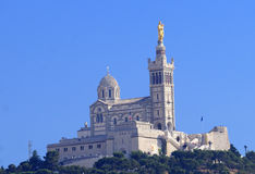 Notre Dame de la Garde. Scenic view of the Basilique Notre Dame de la Garde in Marseille, France Royalty Free Stock Image