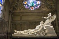 Notre Dame de la medkänsla kyrka, Paris, Frankrike Arkivbild