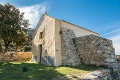 Notre Dame de la Stella chapel near Lumio in Corsica Stock Image